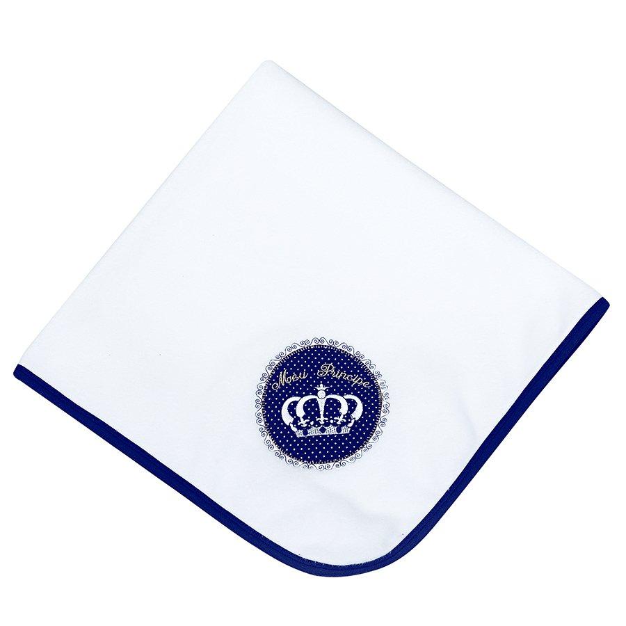 efd51905a Cobertor de Bebê Fofo Coroa Azul Marinho