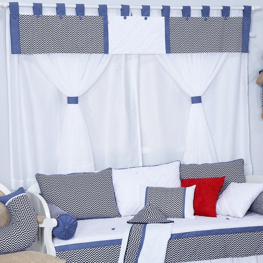 Cortina Decalta Azul Cl Ssico E Proven Al Ursinho Menino Cortina