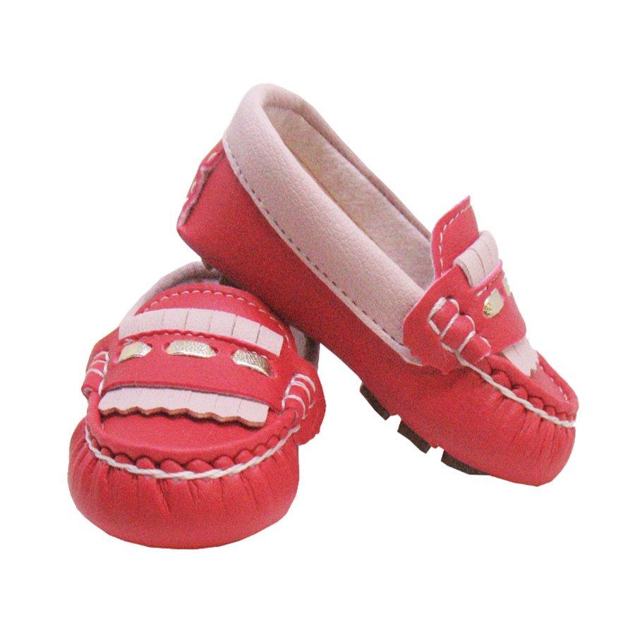 d606a2fa13 Mocassim Infantil Básico Vermelho com Rosê