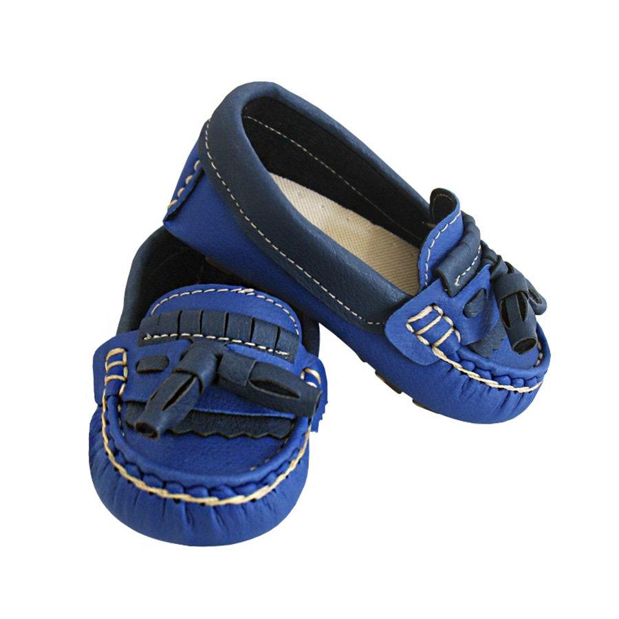 61317b410c Mocassim Infantil Básico Azul Royal com Azul Marinho