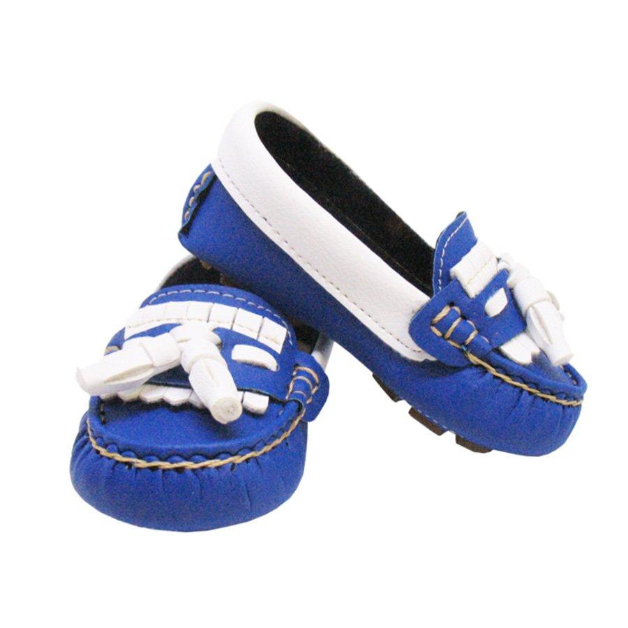9a879c638c Mocassim Infantil Básico Azul Royal com Branco