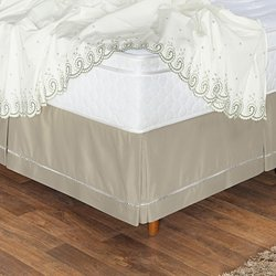 Saia Box Cama Casal Queen Classic Colors Cáqui