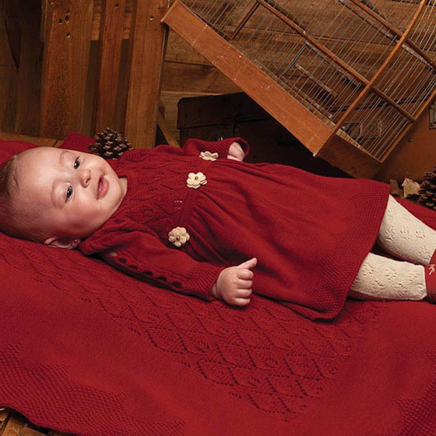 Saída de Maternidade Belinha Vermelho Tricot  6cd09ff8e05