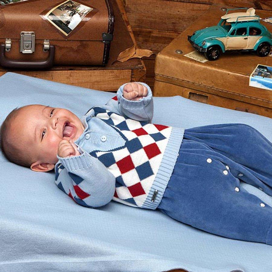 3fc55d4ca04ba Saída de Maternidade Cris Azul