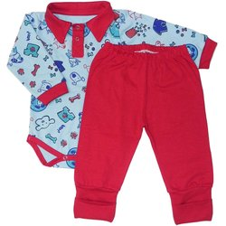 Conjunto de Bebê Body e Mijão Love Dog Blue