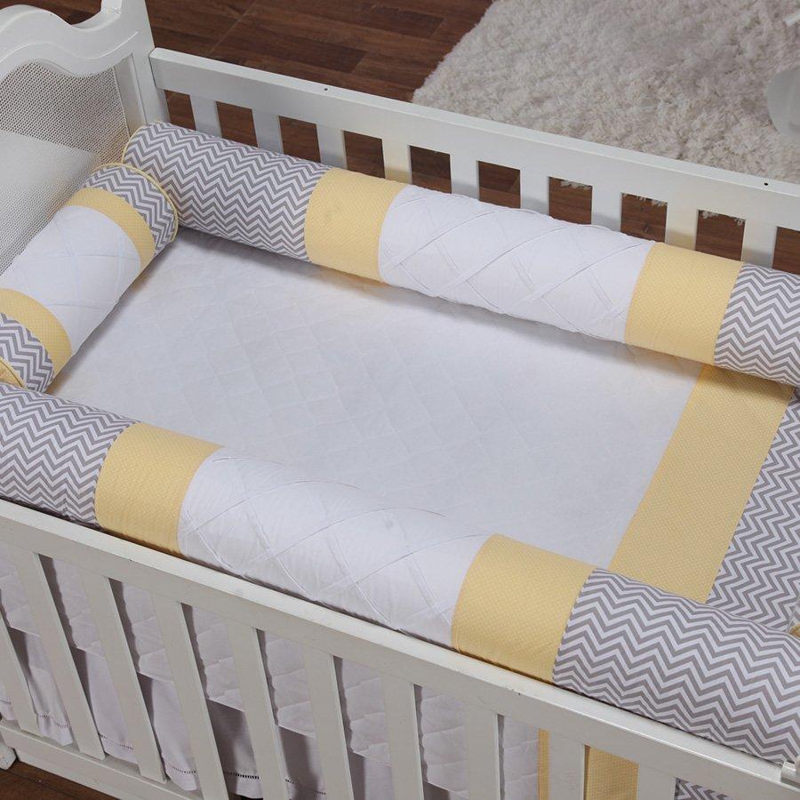 128066a38 Quarto de Bebê Noblesse Amarelo 28 Peças