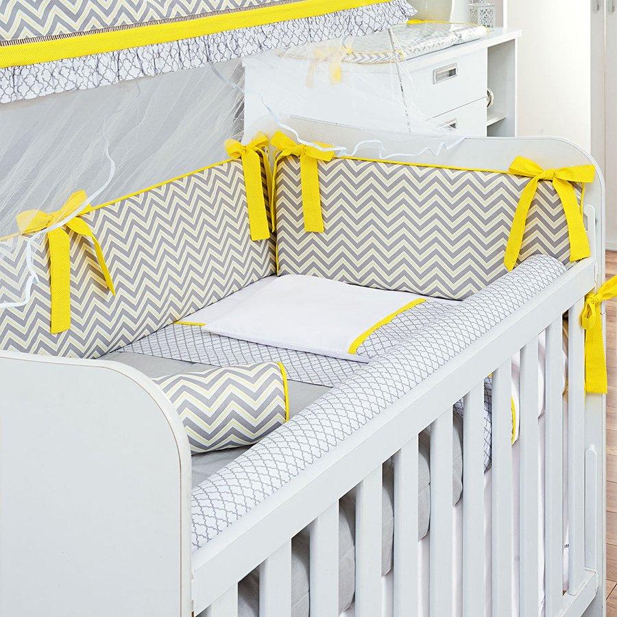 9344c3230 Manta para Bebê Chevron Amarelo