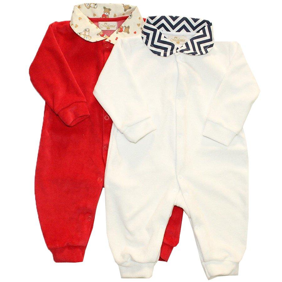 Kit Macacões de Bebê Basic Vermelho e Branco  5ae5b9c6851