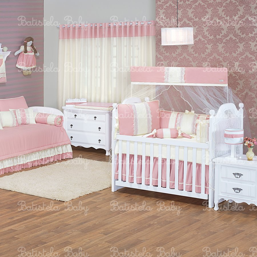 Quarto De Beb Lav Nia Ros 24 Pe As Essencial Enxovais ~ Cantinho Do Bebê No Quarto Do Casal