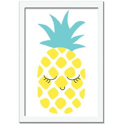 Quadro Decorativo Love Fruit Abacaxi