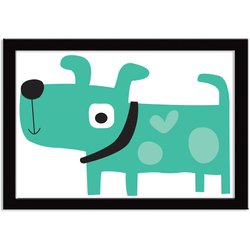 Quadro Decorativo Super Dog Verde