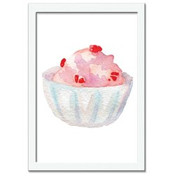 Quadro Decorativo Ice Cream Cupcake