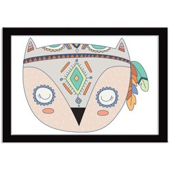 Quadro Decorativo Indian Fox Coruja