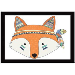 Quadro Decorativo Indian Fox Raposinha