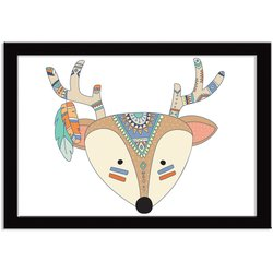 Quadro Decorativo Indian Fox Alce