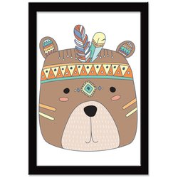 Quadro Decorativo Indian Fox Urso