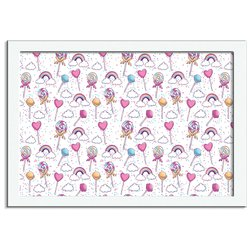 Quadro Decorativo Unicorn Lollipop
