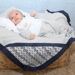 Saída de Maternidade Gabriel Chevron 5 Peças 44e6854e476