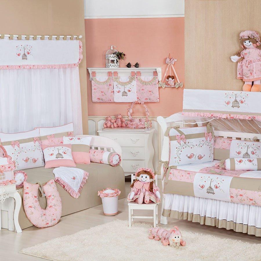 Enxoval De Menina ~ Quarto Completo Enxoval Beb u00ea Menina Primavera Rosa Cáqui Essencial Enxovais
