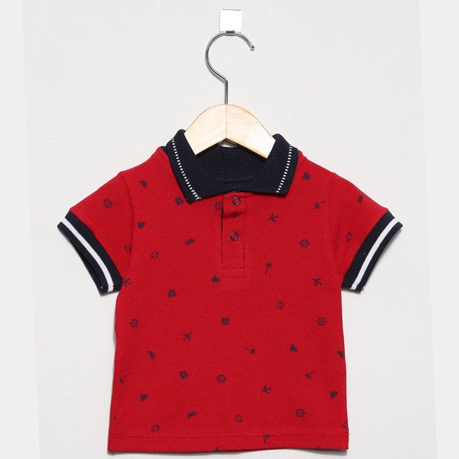 d14ec78ec Camisa de Bebê Polo Marinheiro Cinza