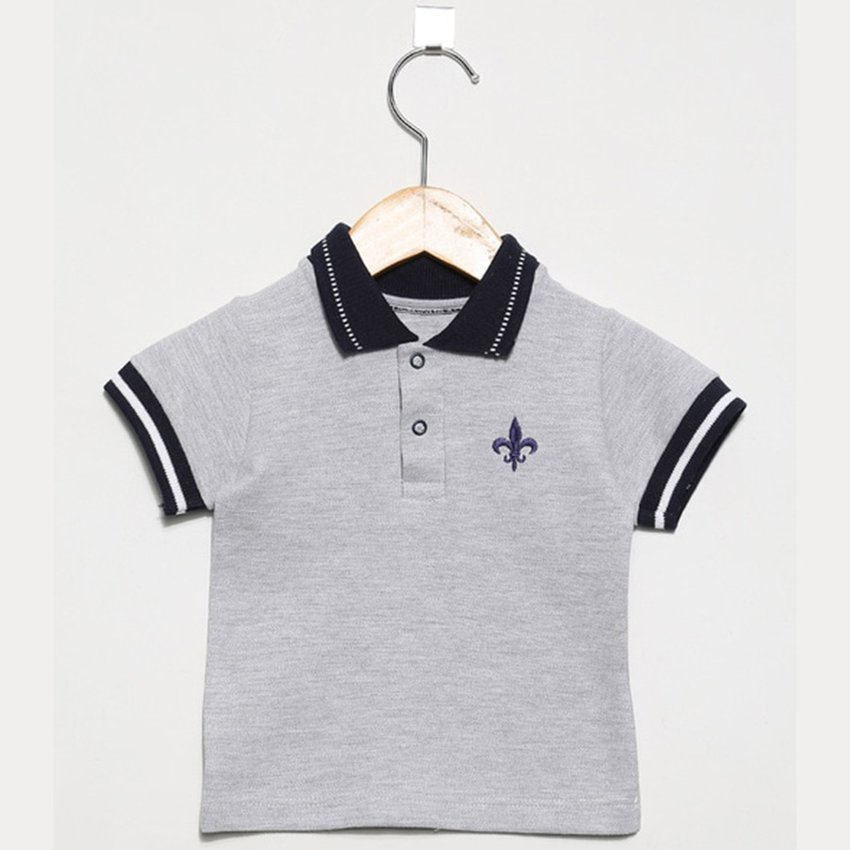 Camisa Infantil Polo Germany Cinza