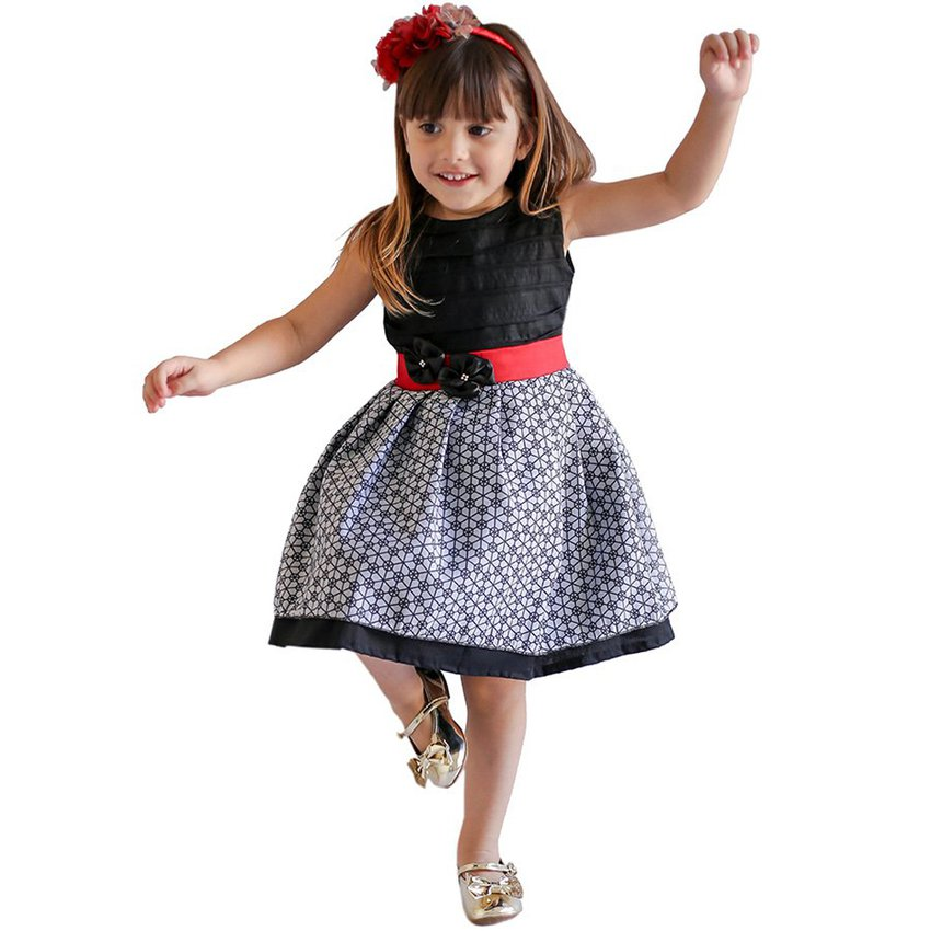 Vestido Infantil Magic Preto