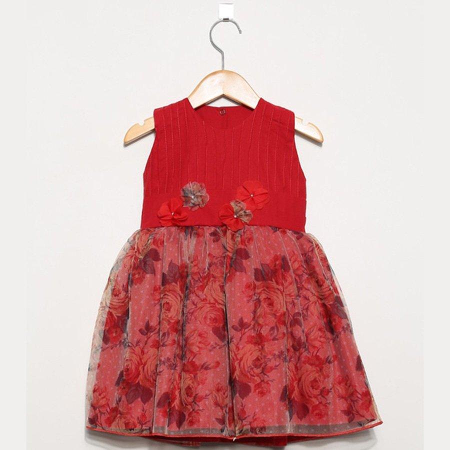 0ede85fb73 Vestido Infantil Valentina Rosa