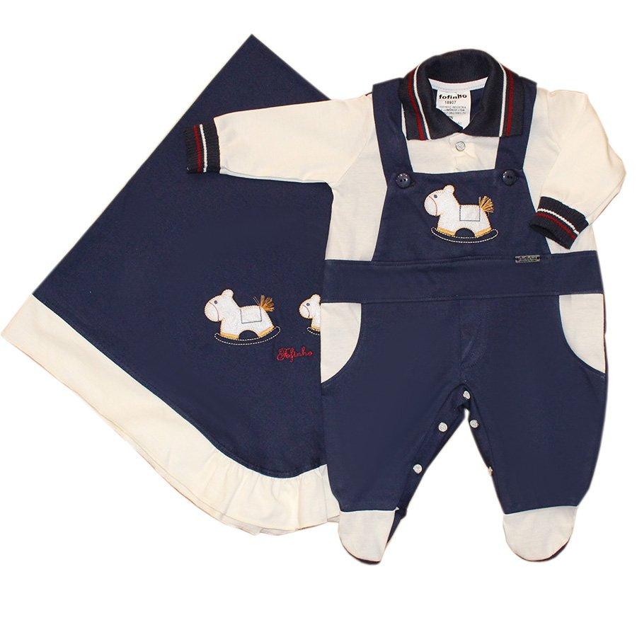 Saída Maternidade Cavalinho Marinho   Essencial Enxovais 62dd00f4fd