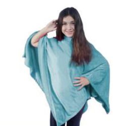 Poncho Inverno Kids Acqua Flannel