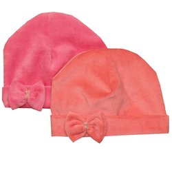 Kit Touca de Bebê Plush Rosa e Rosê
