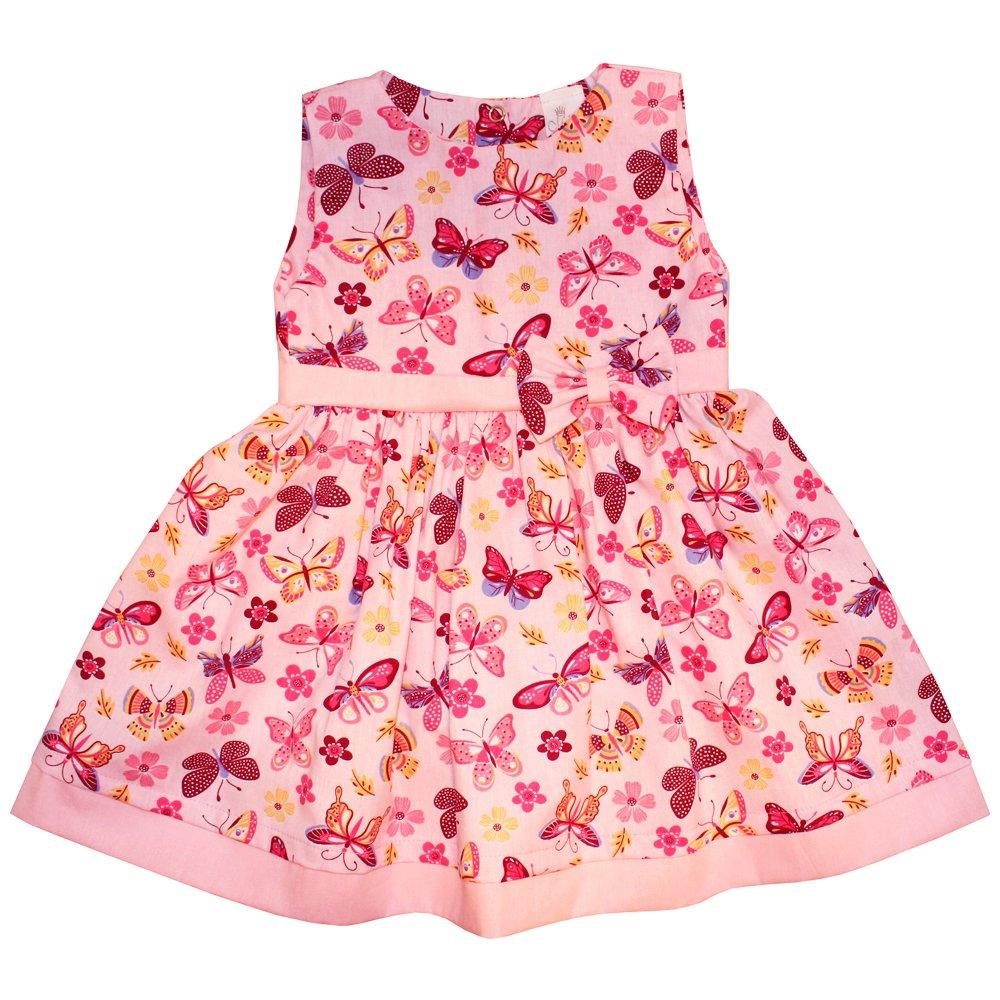 Vestido de Bebê Borboleta Rosa  285b17a5b216