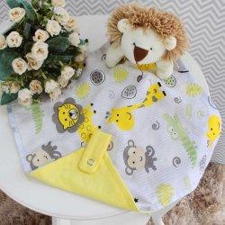 b4df455ac2d76e Naninha para Bebê Leão Safari Amarelo