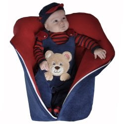 05289ff4aa Saída de Maternidade Urso Marinho Plush 4 Peças