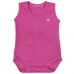 Body de Bebê Regata Basic Pink