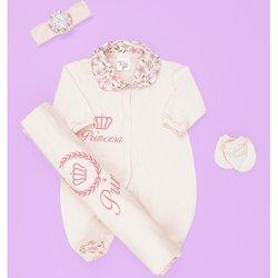 Saída de Maternidade Princesa Rosa  7d1a1caa45e
