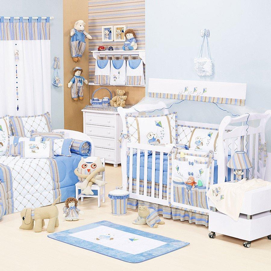 3fa7dd2d5 Quarto de Bebê Menino Urso Theo sem Cama Babá Azul