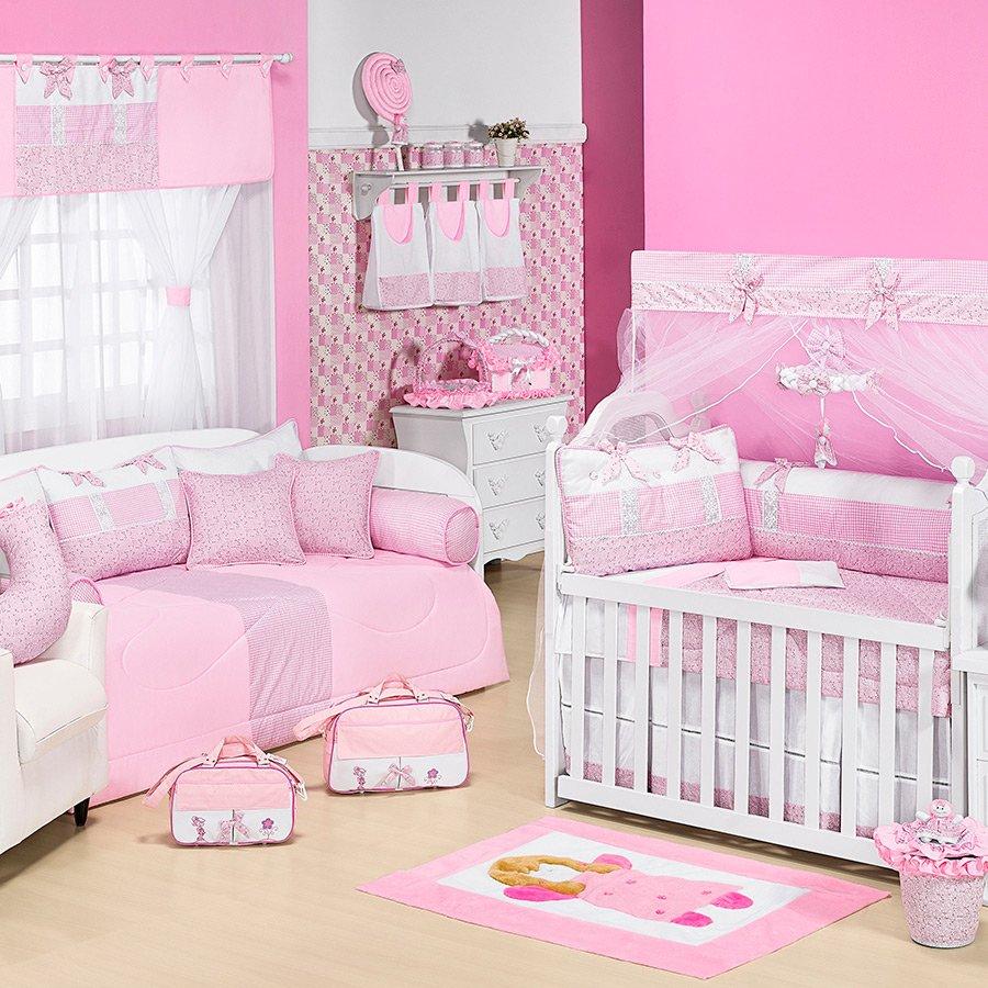 Quarto De Beb Veneza Rosa Essencial Enxovais ~ Cores Para Pintar Quarto De Menina