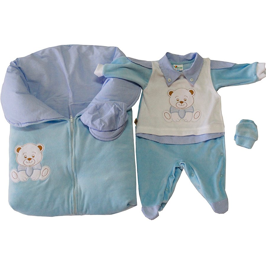 Saída Maternidade Meu Príncipe Azul Plush  50010173f06