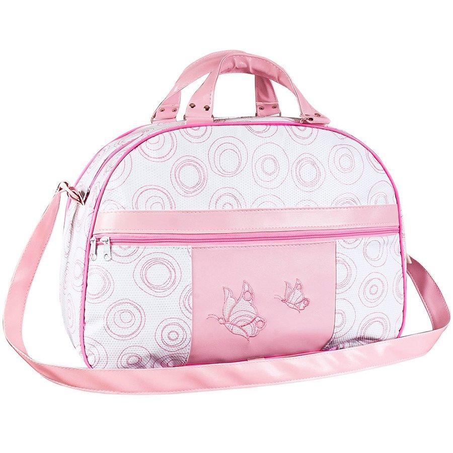 76695d530 Bolsa Maternidade M Borboleta Rosa | Essencial Enxovais