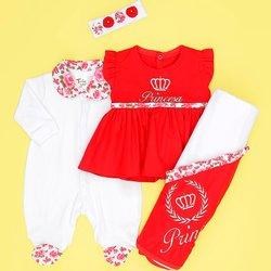 da0e417bbc02 Saída Maternidade Princesa Linda Vermelho   Essencial Enxovais