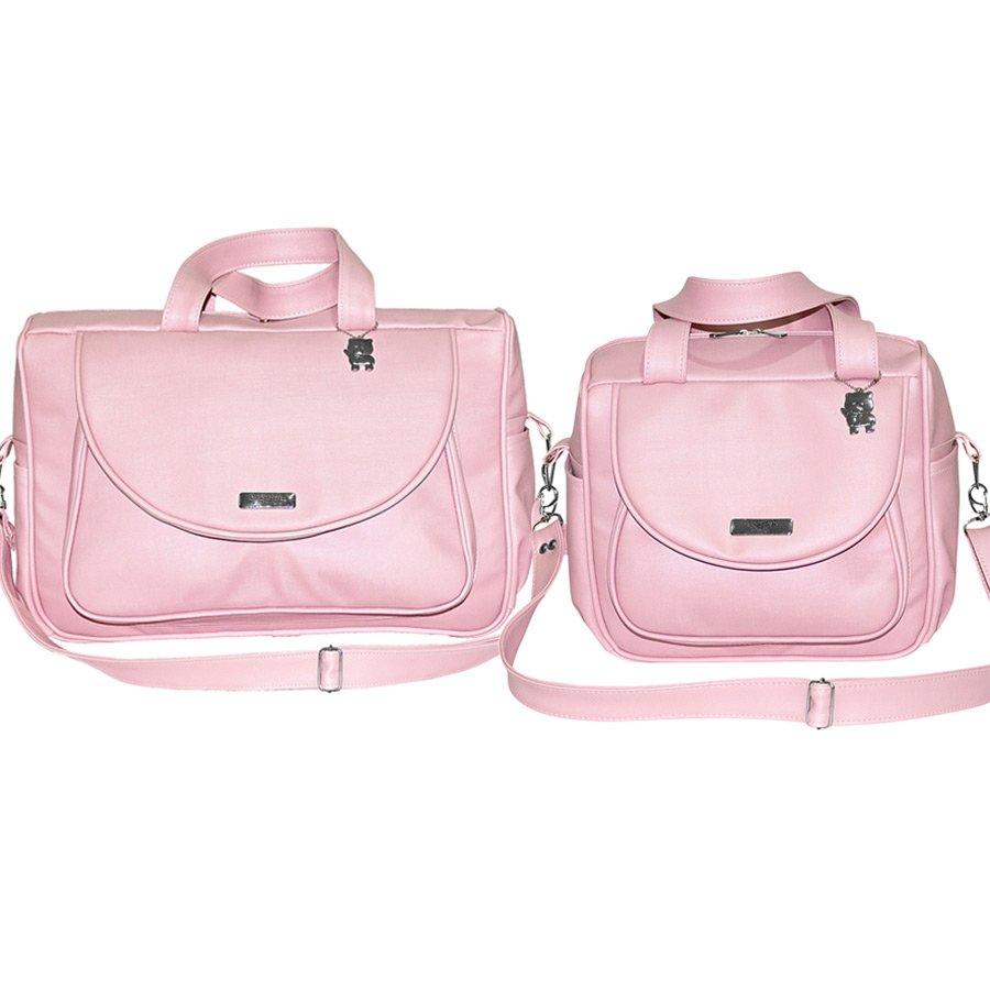 a086cb1a0f1 Conjunto de Bolsas Maternidade Elegance Rosa 2 Peças Tamanho P e M