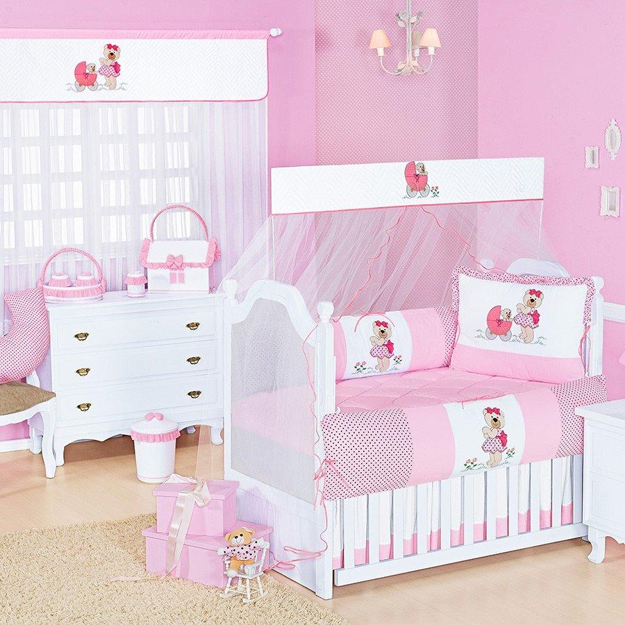 Quarto De Beb Ursinha Rosa Essencial Enxovais ~ Imagens De Quarto De Bebe Feminino