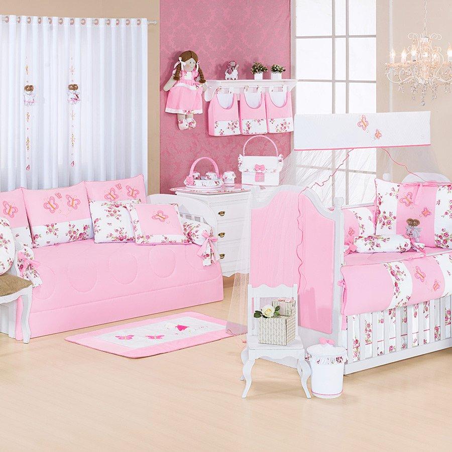 Quarto Completo Cristal Rosa S Enxoval Cama Bab Essencial Enxovais
