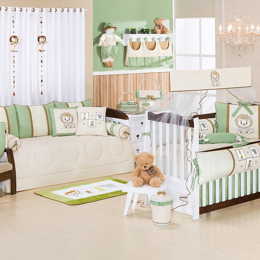 Quarto Beb Le Ozinho Verde S Enxoval Cama Bab Essencial Enxovais ~ Quarto Com Sofa Cama Com Quarto Decorado Menino