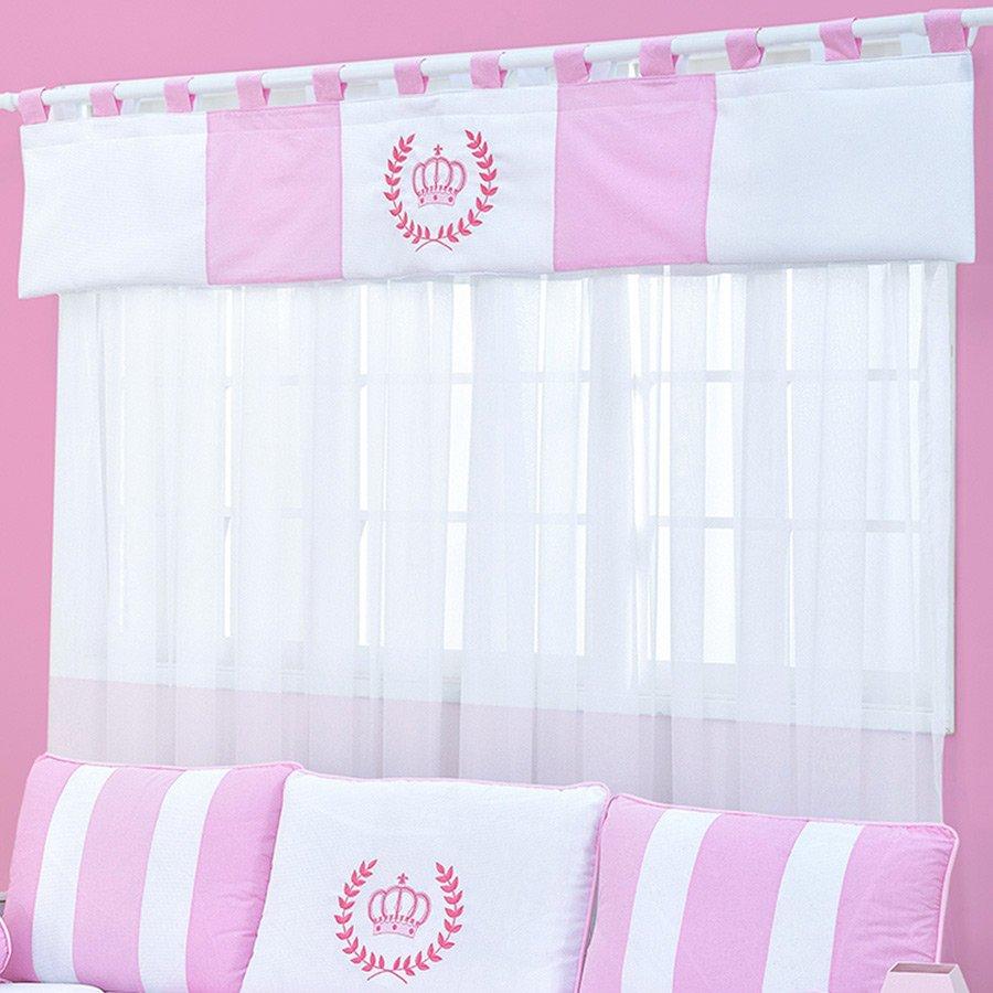 Cortina de beb coroa rosa essencial enxovais - Cortinas para bebe ...