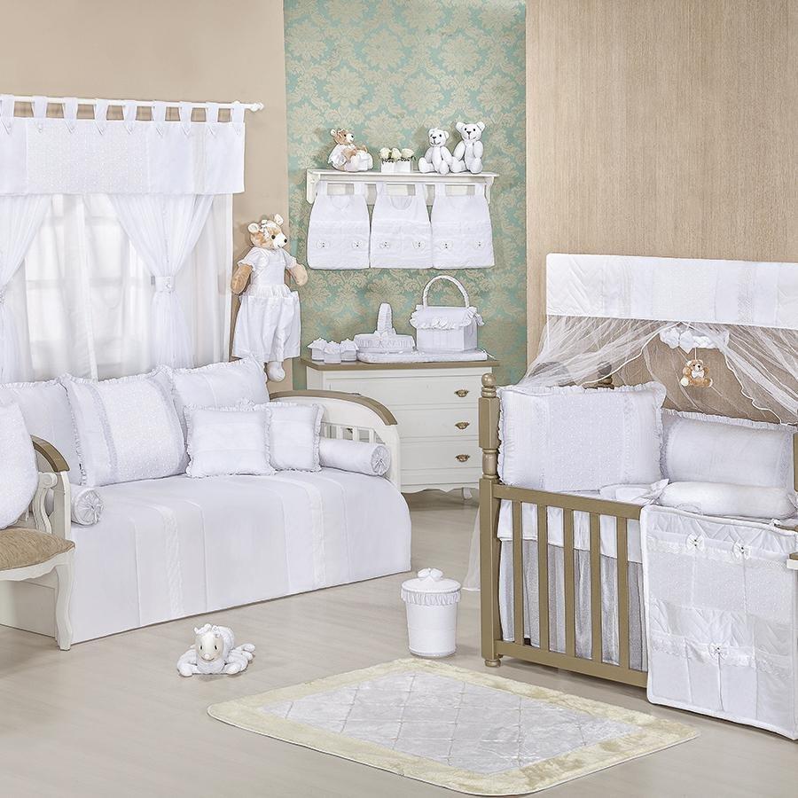 Quarto De Beb Clean Branco S Bicama Essencial Enxovais ~ Quarto Com Sofa Cama Com Quarto Decorado Menino
