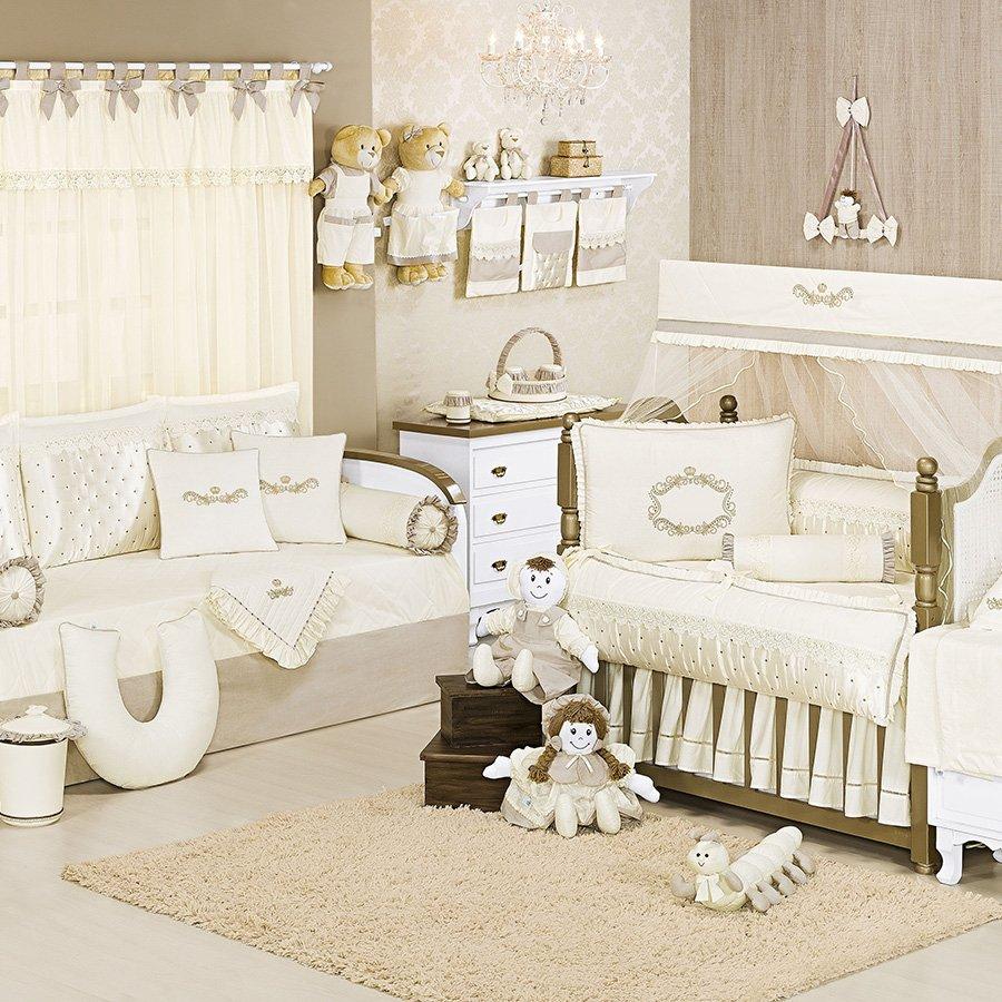 Quarto Completo Imperial Palha Essencial Enxovais ~ Quarto Do Bebe Menina Com Quarto De Bebe De Luxo