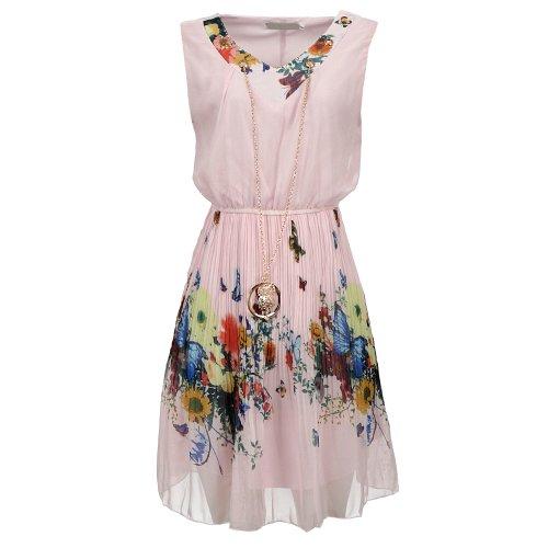 Vestido Florido Ref 517 PI - Compre Agora - Feira da Madrugada SP ba53f572beb