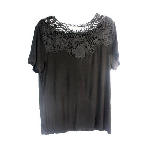 Blusa com Renda (Plus Size)