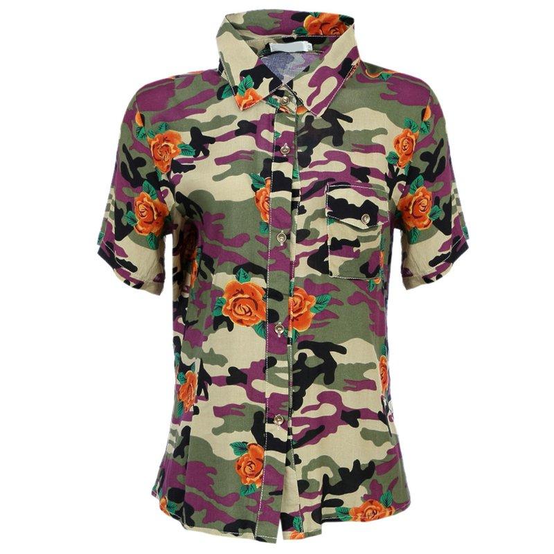 Camisa Camuflada - Compre Agora - Feira da Madrugada SP 0521568b71e93